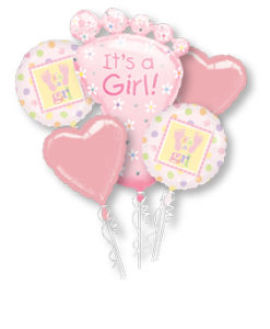 Baby Girl Balloon Display