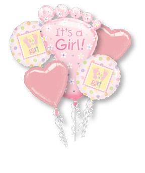 Baby Girl Balloon Display