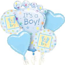 Baby Boy Balloon Display